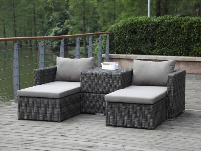 zebra jack lounge set taupe gartenm bel. Black Bedroom Furniture Sets. Home Design Ideas