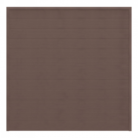 GrojaSombra WPC Zaunfeld-Set braun 180x180 Tropical Brown