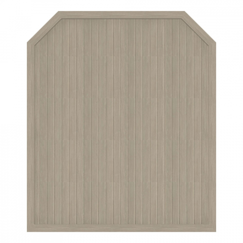 Groja BasicLine Zaun Typ J Sheffield Oak 180x210-180