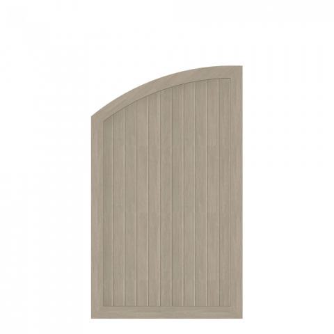 Groja BasicLine Zaun Typ Q links Sheffield Oak 90x120-150