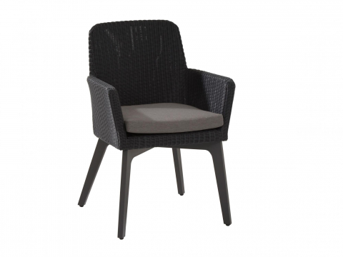 4Seasons Lisboa Dining Chair Alu, Polyloom anthracite