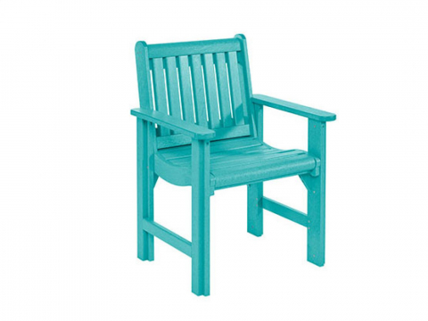Muskoka Generation Line Dining Arm Chair C12, Turquoise