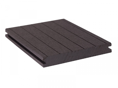 GroJaSolid Terrassendiele Novel 20x140mm, schwarz