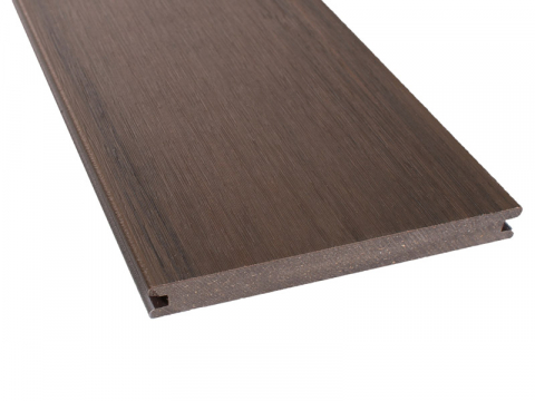 GroJaQuattro Terrassendiele massiv, breit 20x187mm, walnuss