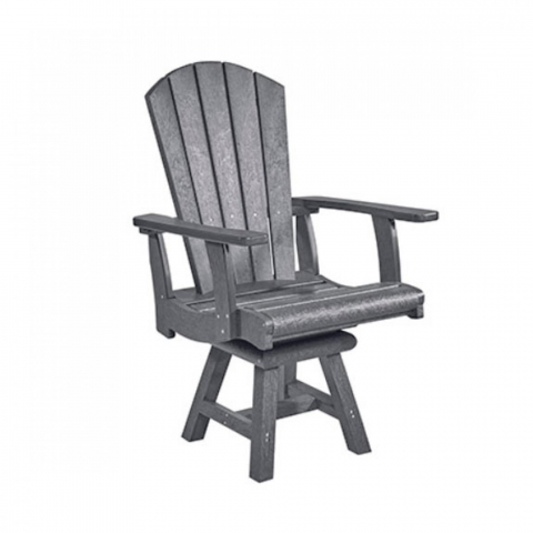 Muskoka Generation Line Addy Dining Arm Chair C16, Slate Grey