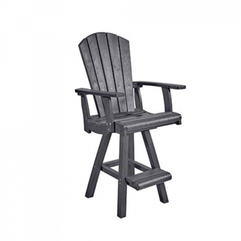 Muskoka Generation Line Addy Pub Arm Chair C26, Slate Grey