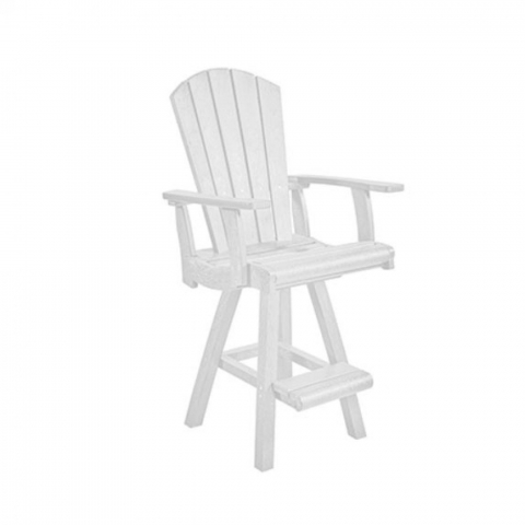 Muskoka Generation Line Addy Swivel Pub Arm Chair C25, White